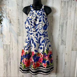 Eliza J Fit & Flare Halter Dress Sz 6